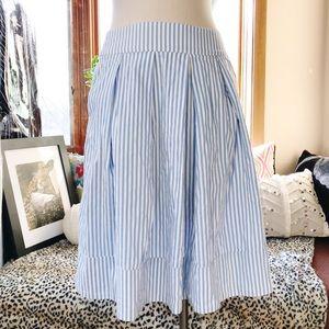 Zara Woman Midi Paneled Skirt